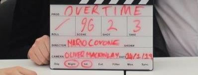 Video Nasty comic book writer Mario Covone starts shooting his directorial feature, OVERTIME.