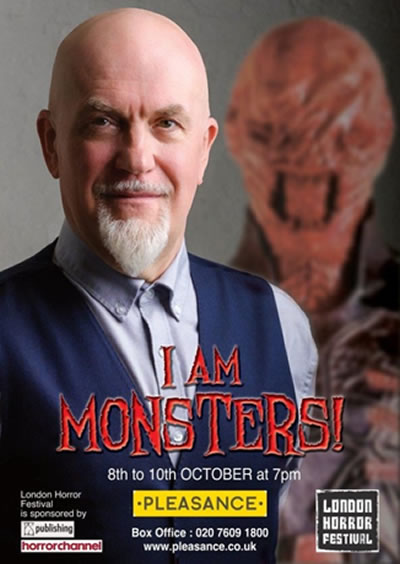 Ahead of his one-man show, I AM MONSTERS! at The Pleasance, actor and writer Nicholas Vince reveals what's behind the masks