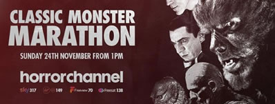 Horror Channel runs CLASSIC MONSTER MARATHON on November 24