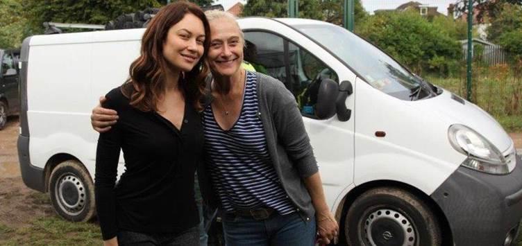 Caroline Goodall On location with Olga Kurylenko