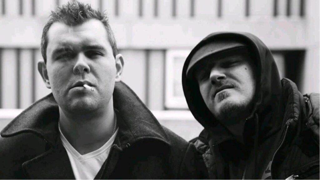 Chris Bell (l) & Robert English in I AM HOOLIGAN. Photo credit: Gaz de Vere